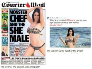 Monster Chef , She-Male and Ladyboy, If you found the Courier-Mail's handling of the tragic murder of Mayang Prasetyo offensive.