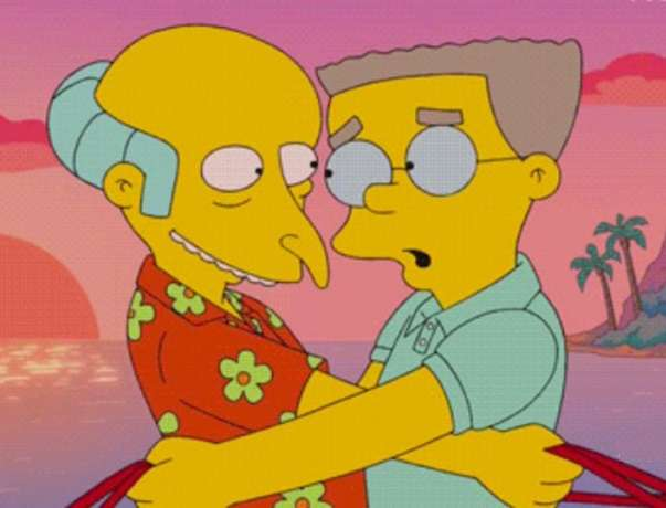Mr Burns and Smithers