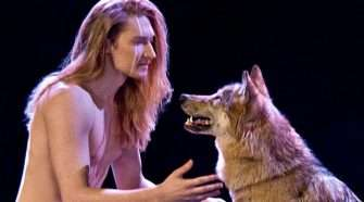 Eurovision 2016 Belarus nude with wolves