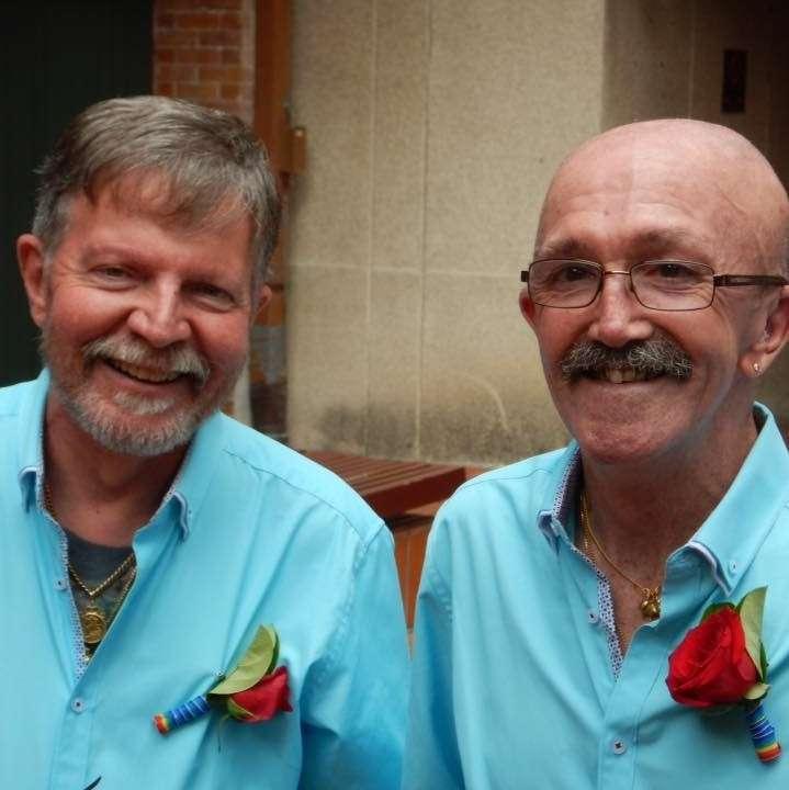 Stephen Thompson Jaime Kerr civil partnership ceremony