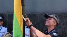 Queensland police lgbti liaison mairead devlin rainbow flag