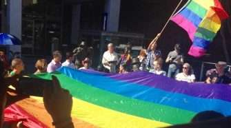 rainbows across queensland IDAHOT Ceremony at King George Square in Brisbane