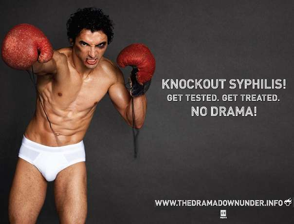 Knocking Out Syphilis Ad Campaign