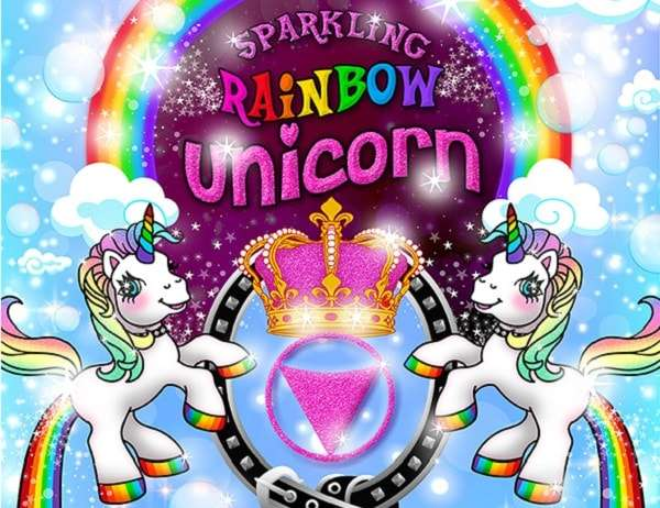 Tropical Fruits Sparkling Rainbow Unicorn Party Queen Lizzie's