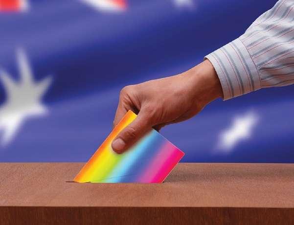 Election 2016 Rainbow Votes Graphic