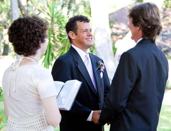 Gay Couple at Wedding