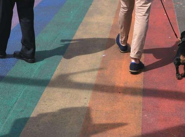 Rainbow Footpath Stock Image WEB