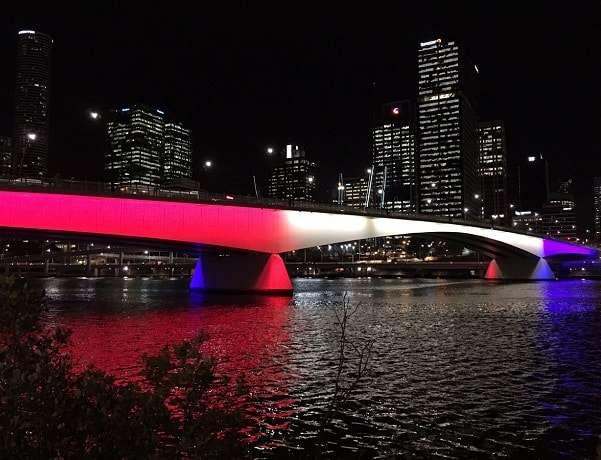 Victoria Bridge Lit Up For Orlando