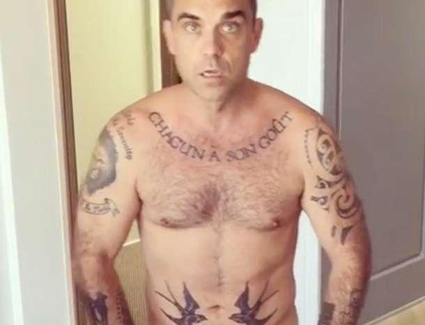 Robbie Williams Nude Instagram Video