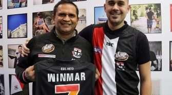AFL Pride Game Nicky and Tynan Wynmar