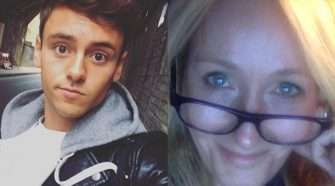 JK Rowling and Tom Daley