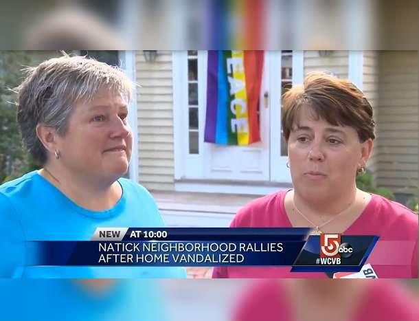 Massachussetts Couple Flag Vandalised