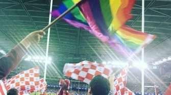 Pride Game Rainbow Flag Waving