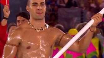 oiled-up Tongan Pita Taufatofua rio opening ceremony