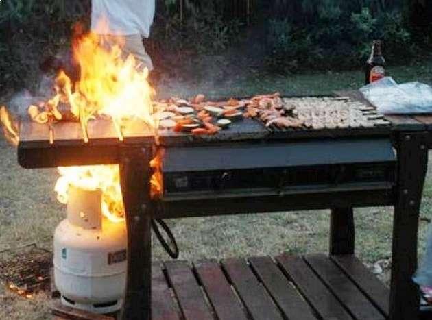 BBQ On Fire Photo