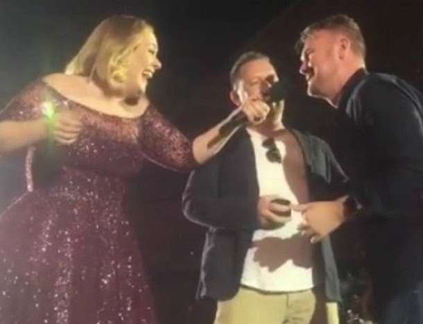 Gay couple Adele concert melbourne