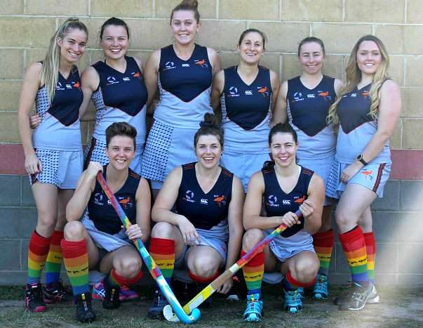 Players from the Queensland University of Technology Hockey Club will wear rainbow socks to promote diversity in sport