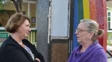 The permanent art installation celebrating the LGBTIQ community at New Farm's Neighbourhood Centre is set to be repaired after recent vandal damage