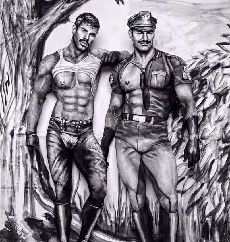 tom of finland gay art body paint instagram