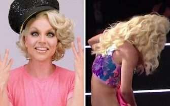Courtney Act semi-nude wardrobe fail on Celebrity Big Brother