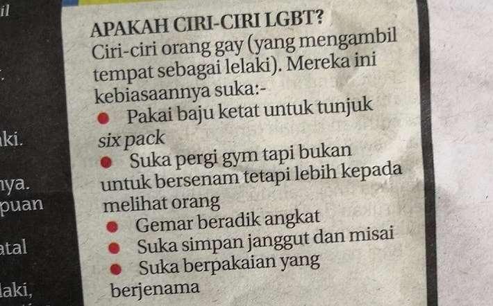 gay checklist