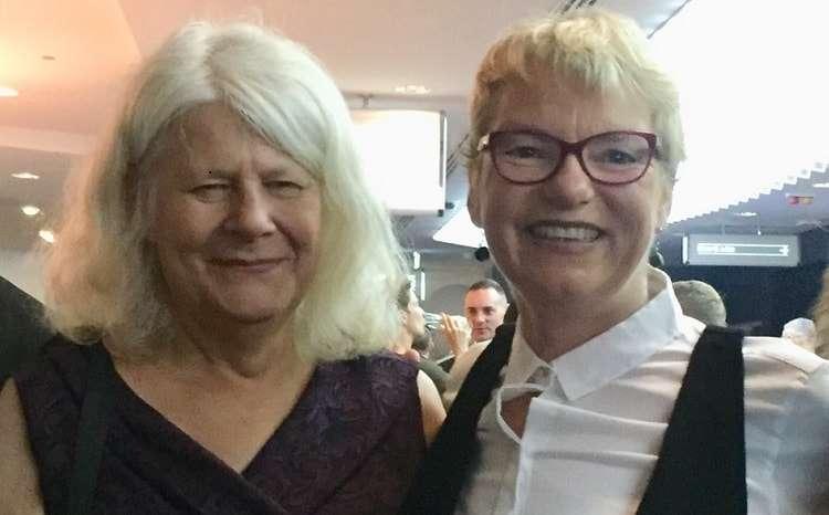 Greens Senator Janet Rice and partner Penny