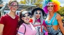 Revellers celebrate pride at Brisbane Pride festival Fair Day 2015