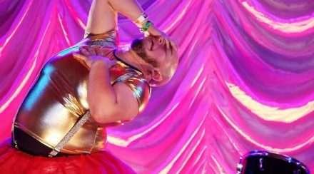 Brisbane non-binary activist Jade Mirabito performs on stage