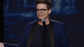 Publicity photo of Hannah Gadsby by Netflix from her special Nanette