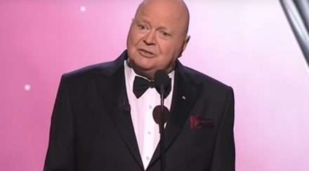 Bert Newton on stage at the Logies 2018