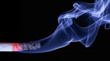 Stock photo of cigarette smoke