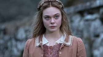Elle Fanning in movie still from Mary Shelley about famous Frankenstein author
