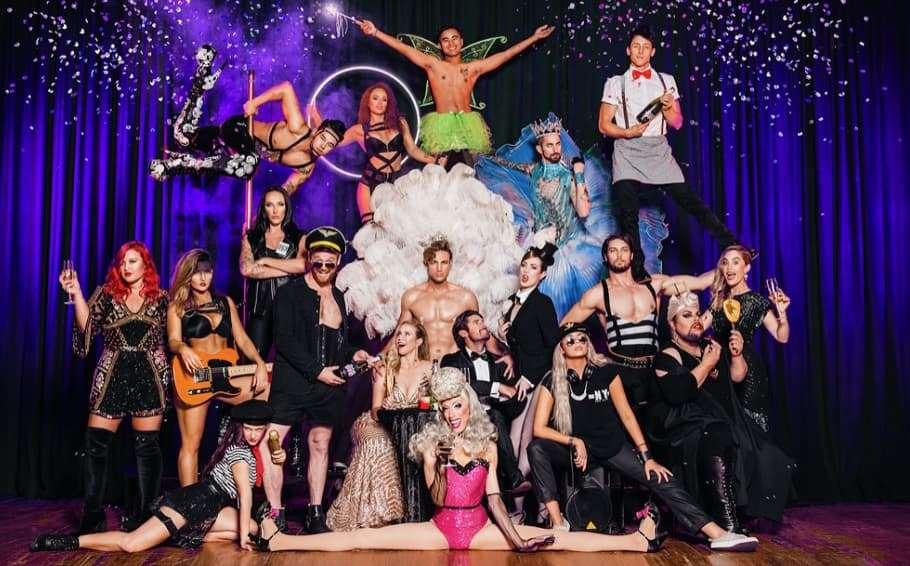 Group cast photo of Australian cabaret show Boy&Girl's 2018 season.