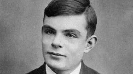 Historical public domain photo of Alan Turing, world war ii codebreaker