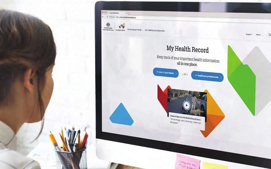 My Health Record stock photo supplied by federal government