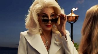 Cher in a still from musical sequel Mamma Mia Here We Go Again