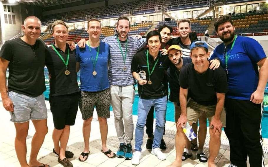Brisbane inclusive swim team Aqualicious group photo