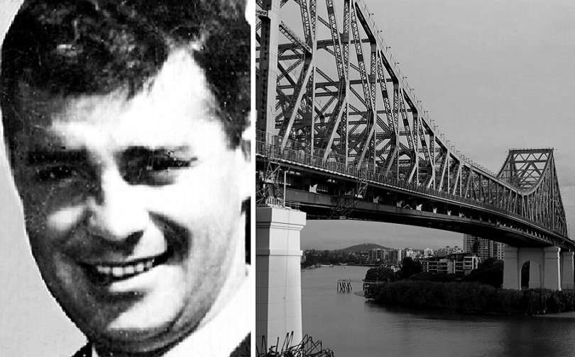 Brisbane man Gary Venamore was murdered by persons unknown in 1968. Story Bridge shown