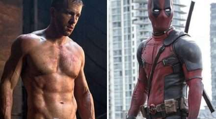 Ryan Reynolds in two stills from Marvel Superhero movie Deadpool