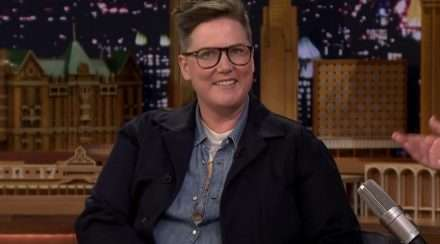 Comedian Hannah Gadsby appearing on The Tonight Show Starring Jimmy Fallon