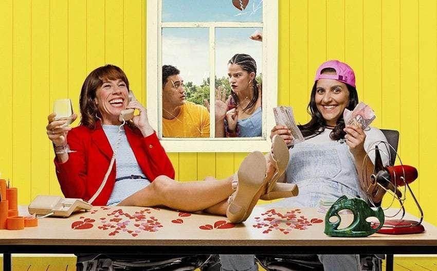 Promo art for the Australian comedy film The Breaker Upperers