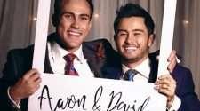 Neighbours david and aaron wedding