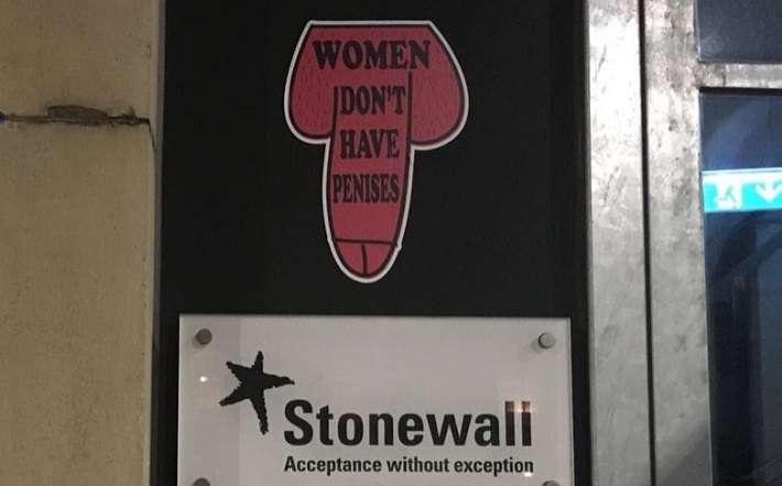 transphobic sticker