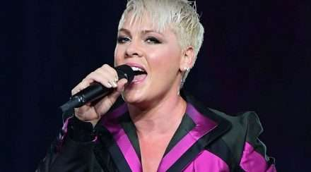 Pink performs on her beautiful trauma Australian tour