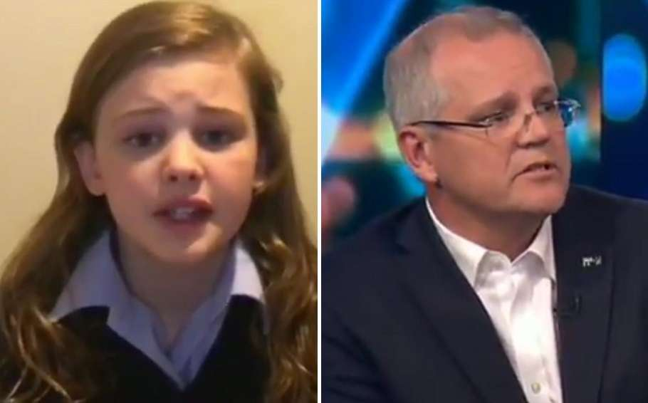 Trans student Evie and Scott Morrison