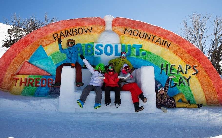 Rainbow Mountain Snow Sculpture