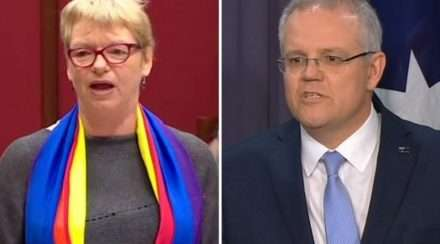 Janet Rice and Scott Morrison