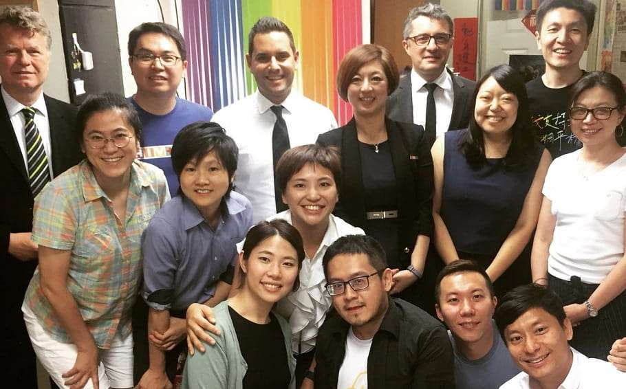 Australian Marriage Equality meets with same-sex marriage activists in Taiwan