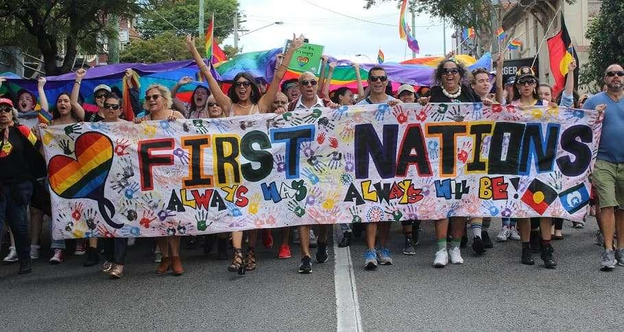 Brisbane Pride Festival 2018 march