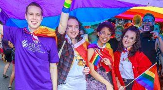 Brisbane Pride rally photo